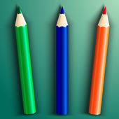 Vector illustration of school color pencils — Stock Vector