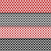 Vector set of seamless patterns with playing cards suits — Vecteur