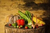 Still life Vegetables and fruits. — Stock fotografie