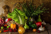Still life  Vegetables, Herbs and Fruit. — Foto de Stock