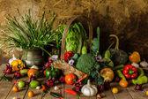 Still life  Vegetables, Herbs and Fruit. — Stock fotografie