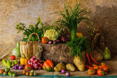 Still life  Vegetables, Herbs and Fruits. — Zdjęcie stockowe