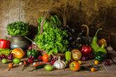 Still life  Vegetables, Herbs and Fruit. — Zdjęcie stockowe