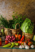 Still life  Vegetables, Herbs and Fruits. — Stock fotografie