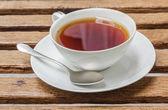 Cup of black tea — Stock Photo