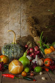 Still life  Vegetables, Herbs and Fruit. — Stockfoto