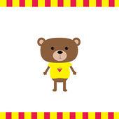 Cartoon bear boy card — Stock Vector