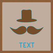 Card with mustache and hat. — Stock Vector