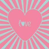 розовое сердце с санберст. — Cтоковый вектор