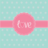 Etiqueta de color rosa y cinta. tarjeta de amor. — Vector de stock