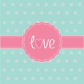 Rosa etiketten och färgbandet. kärlekskort. — Stockvektor