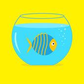 Blue fish in the aquarium. — Vetor de Stock