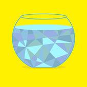 Polygonal aquarium. — Vector de stock