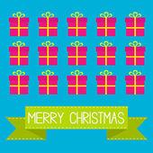 Karte der frohen weihnachten. — Stockvektor