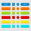 Set of colored web buttons. — Vector de stock