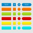 Set of colored web buttons. — Vettoriale Stock
