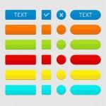 uppsättning färgade web knappar — Stockvektor