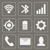 Modern gadget icons. Mobile icon set. Grey. — Stock Vector