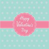 Etichetta rosa e nastro. felice giorno di san valentino carta. — Vettoriale Stock