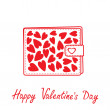 Wallet with hearts inside. Happy Valentines day card. — Stock Vector #39247421