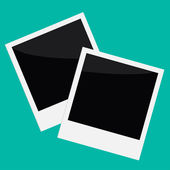 Two Instant photos in flat design style. — Stockvector