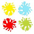 Stock Vector: Colorful blot splash set. Inkblot.