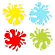 Colorful blot splash set. Inkblot. — Stock Vector #40219629