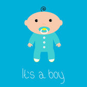 Baby shower card. It's a boy. — Stock Vector