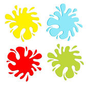 Colorful blot splash set. Inkblot. — Stock Vector