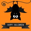 Happy Halloween card. — Stock Vector