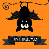Tarjeta de halloween feliz. — Vector de stock