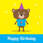 Happy Birthday party card. — Stock Vector