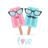 Ice cream couple — Stock Vector