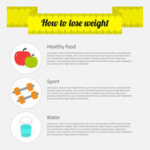 How to lose weight infographic — Stock Vector