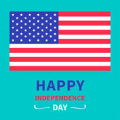 Happy independence day United states of America — Stock Vector