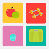Healthy life style icon set. — Stock Vector