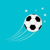 Flying football soccer ball — Vettoriale Stock