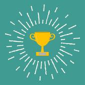 Winner gold cup trophy — Stock Vector