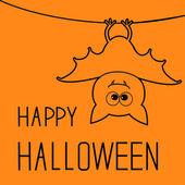 Halloween vleermuis. — Stockvector