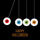 Hanging halloween eyeballs — Stock Vector