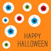 Happy Halloween card. — Stock Vector