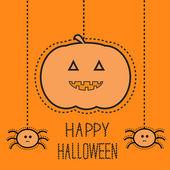 Gelukkig halloween-kaart. — Stockvector