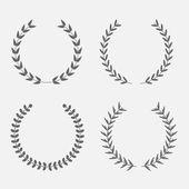 月桂树花圈. — 图库矢量图片