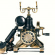 Old telephone on white background — Stock Photo