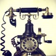 Aged image of an old elegant phone — Stock Photo