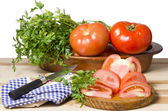 Still life of tomatoes — Stock Photo