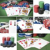 Collage de poker — Stock Photo