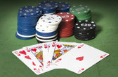 Royal Straight Flush, — Stock Photo