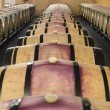 Barrels of red wine — Foto Stock