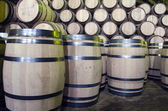 Wine or whiskey barrels — Stock Photo
